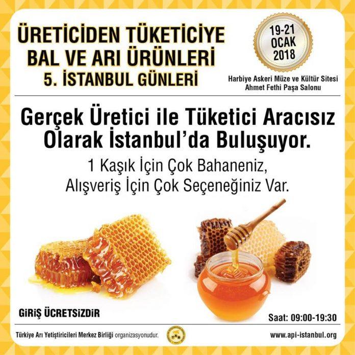 Üreticiden Tüketiciye Bal ve Arı Ürünleri İstanbul Günleri